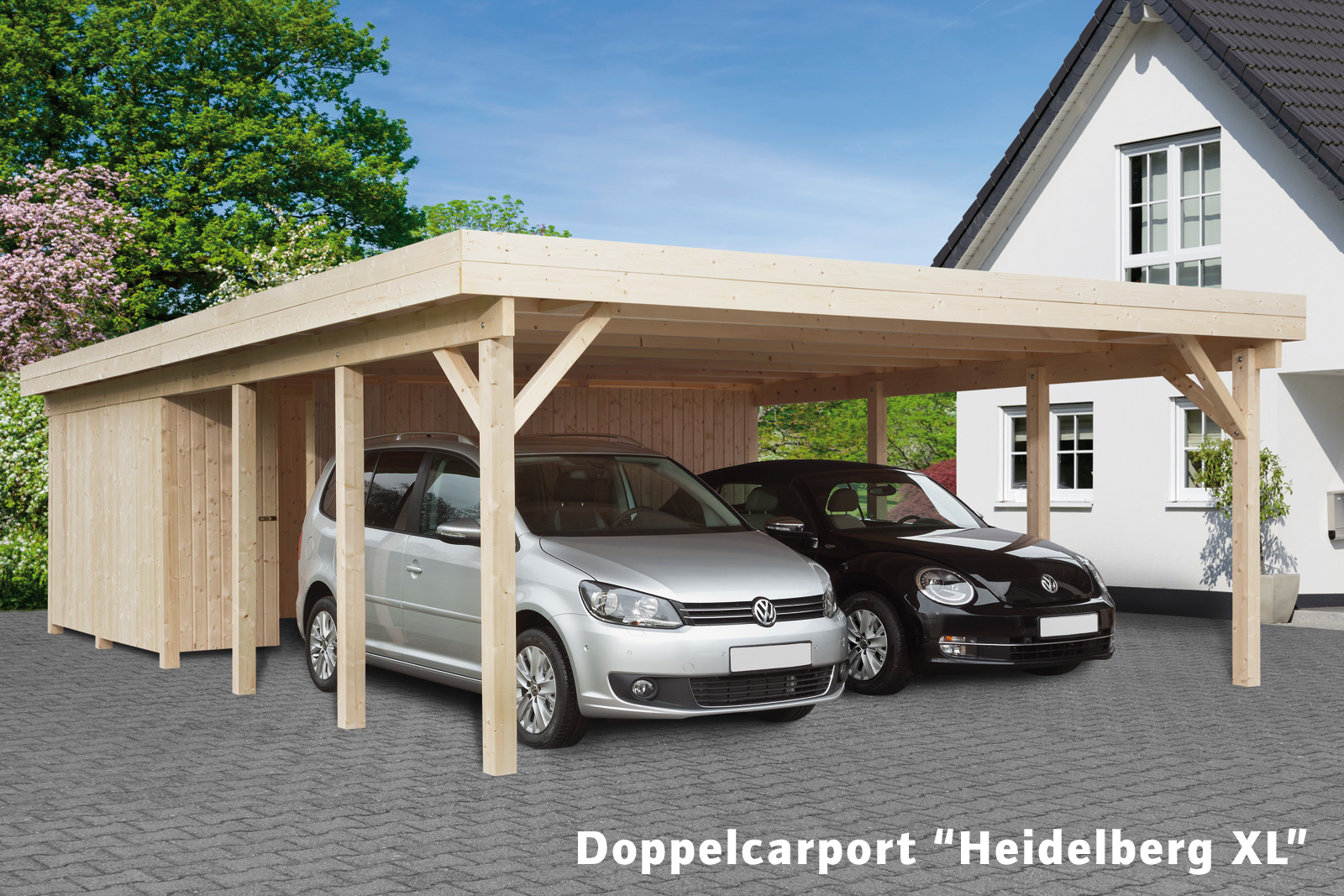 doppelcarport heidelberg xl mit ger teraum bauking direkt. Black Bedroom Furniture Sets. Home Design Ideas
