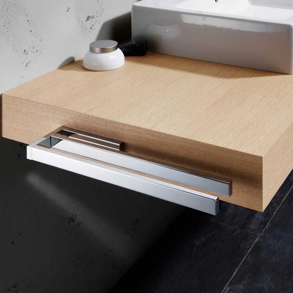 avenarius universal handtuchhalter zweiarmig f r badm bel 390mm 9001421010 creativbad. Black Bedroom Furniture Sets. Home Design Ideas