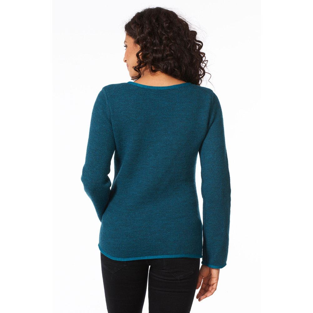 Wende-Sweatshirt 'Outdoor', petrol
