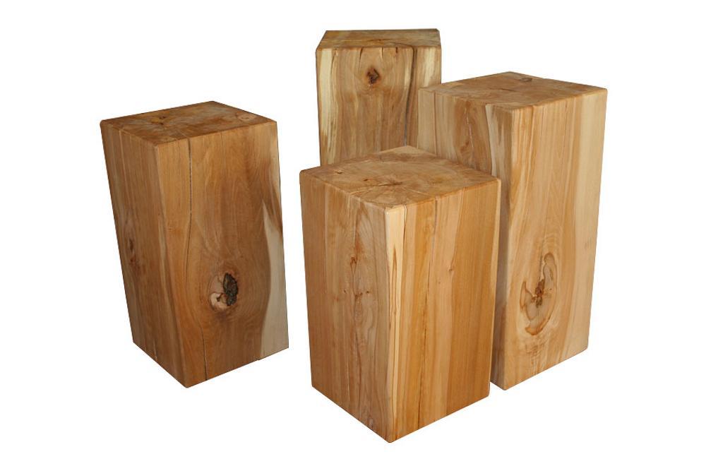 holzblock kernbuche massiv baumstamm hocker s ule stele tisch. Black Bedroom Furniture Sets. Home Design Ideas