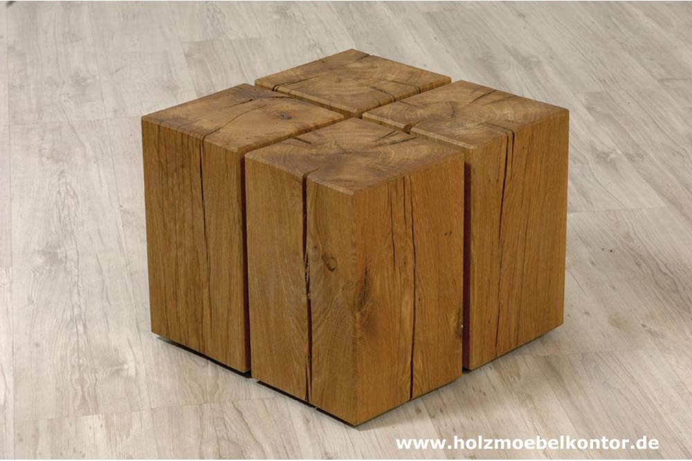 Holzblock couchtisch auf rollen lifestyle m bel massivholz for Couchtisch holzblock