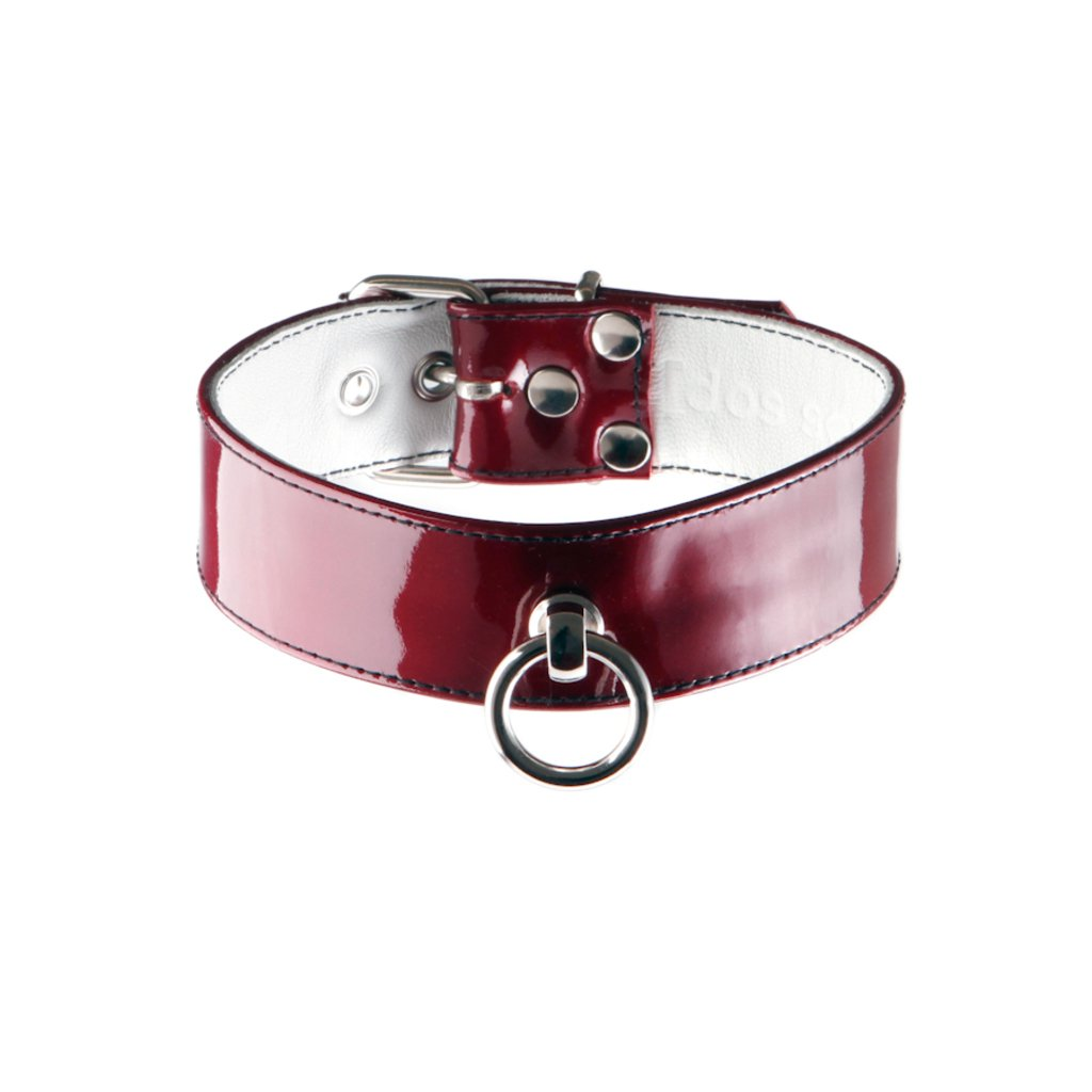 Lackleder Halsband Classic