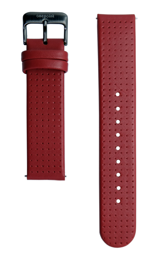 onepoint Uhr Lederarmband Farbe Rot