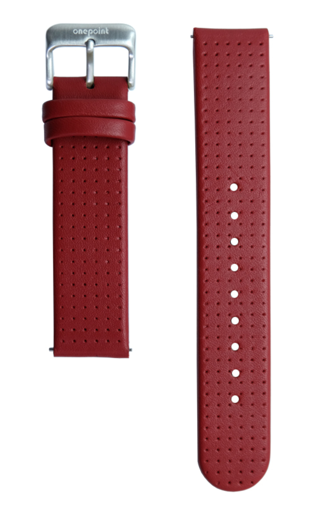onepoint Lederarmband Farbe Rot
