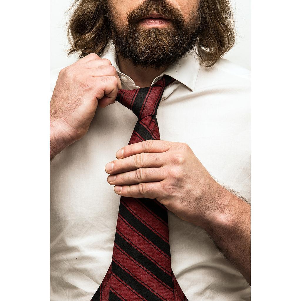 Kochschürze & Krawatte in einem! - rot-grau