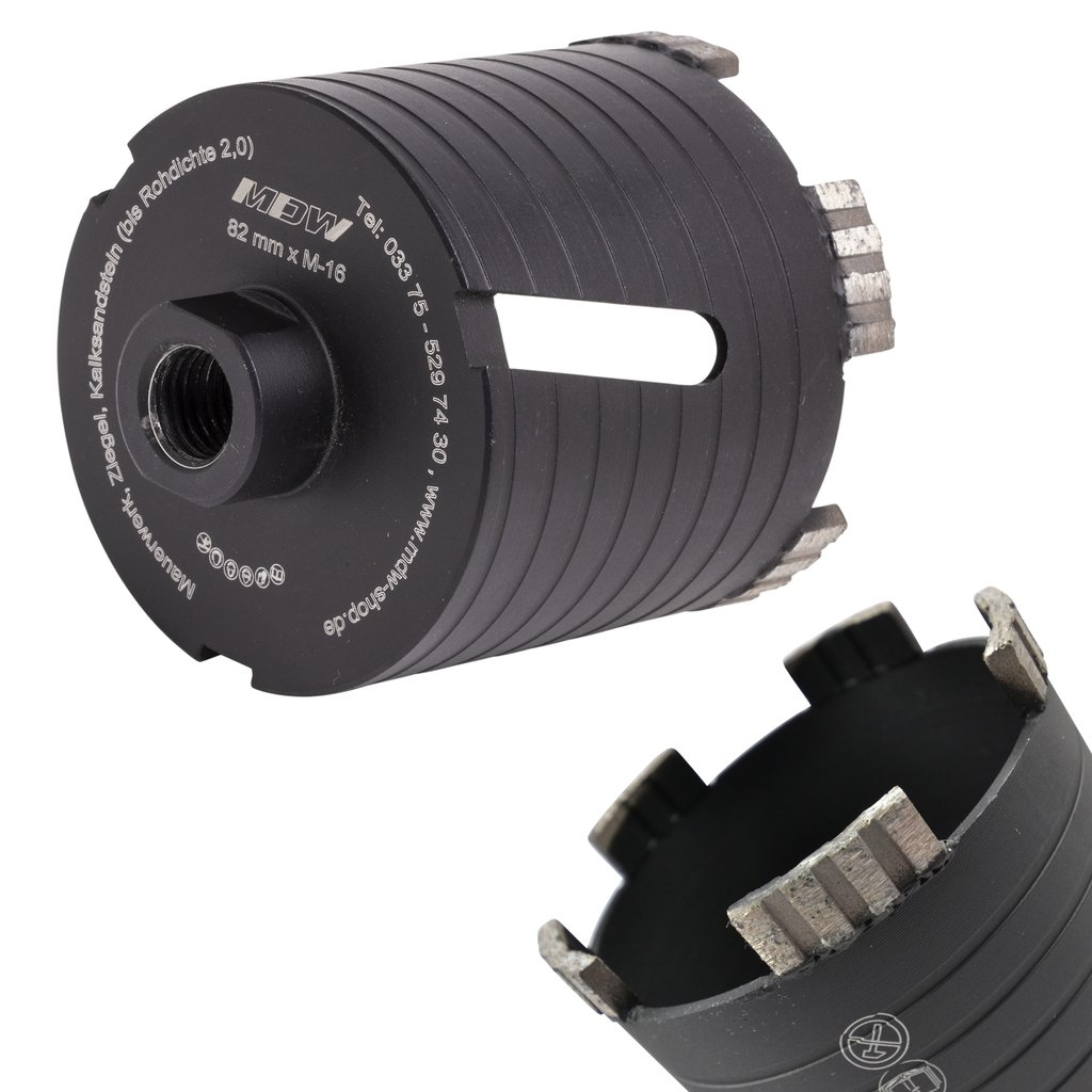 Diamant Dosensenker <br> Laser Black Turbo <br> Ø 68 / 82 mm <br> Mauerwerk, Ziegel, KS