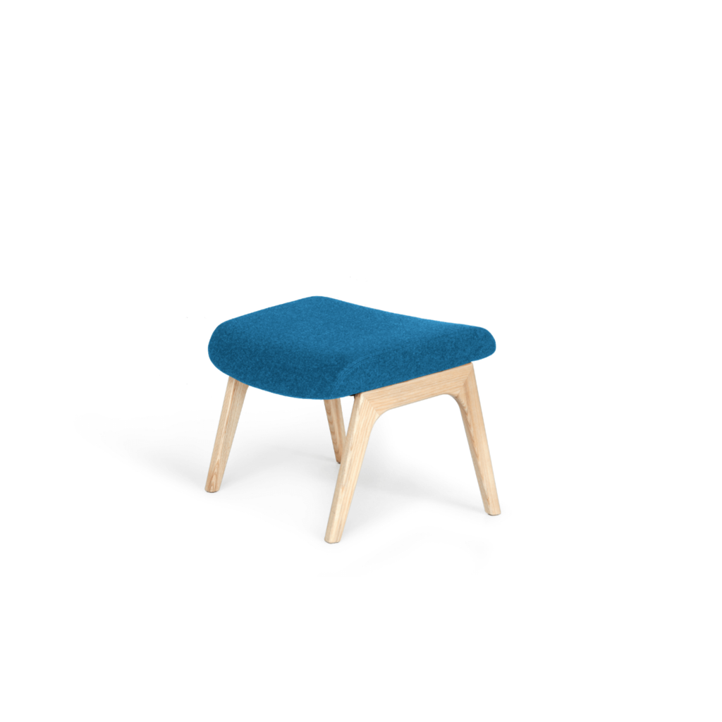 Sessel mit Hocker - Retro Design