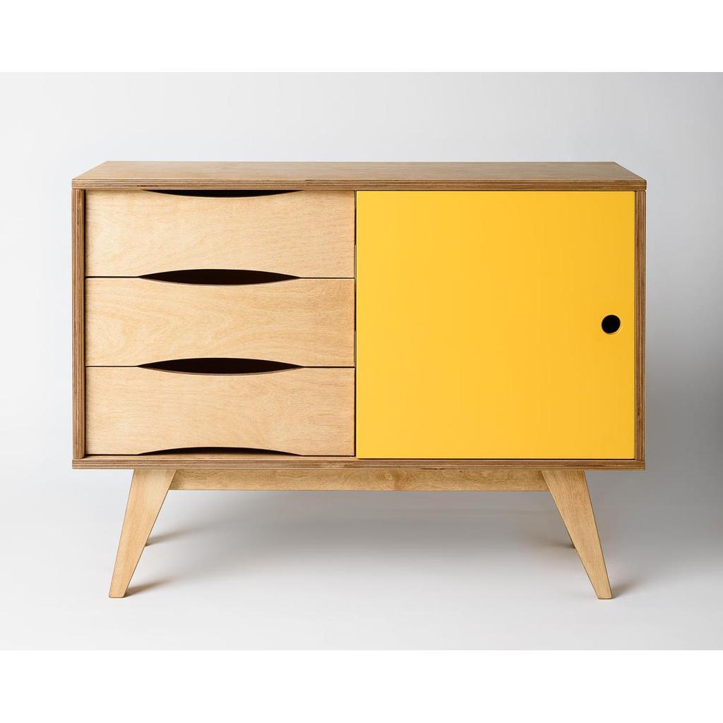 sideboard aus holz mit schiebet ren jetzt online kaufen. Black Bedroom Furniture Sets. Home Design Ideas