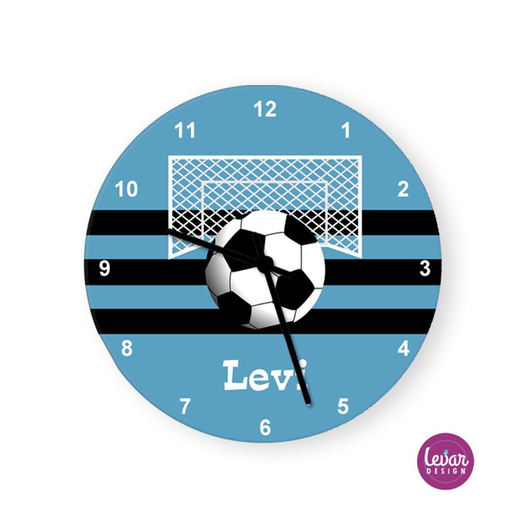 Wanduhr Kinderzimmer Uhr Fussball Mit Namen Personalisiert