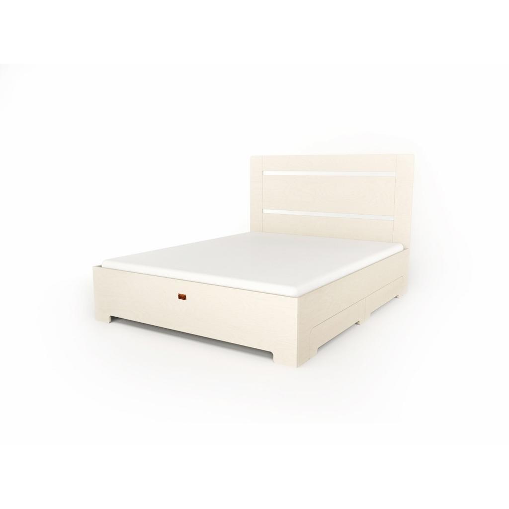 bett tu l aus massivholz in wei mit schubladen. Black Bedroom Furniture Sets. Home Design Ideas