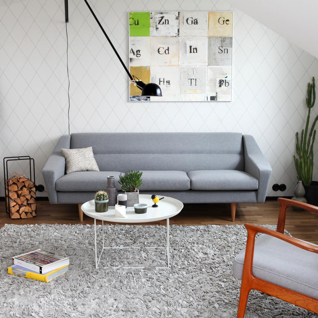 3 Sitzer Sofa Im Retro Look