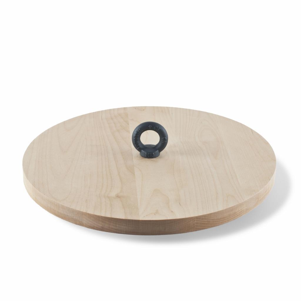 Design Servierplatte Aus Holz Metall Mit Logo