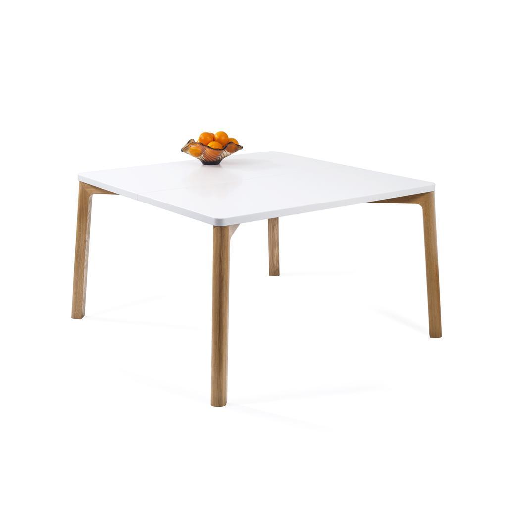 Esstisch in eiche wei 140 cm for Esstisch nordisches design
