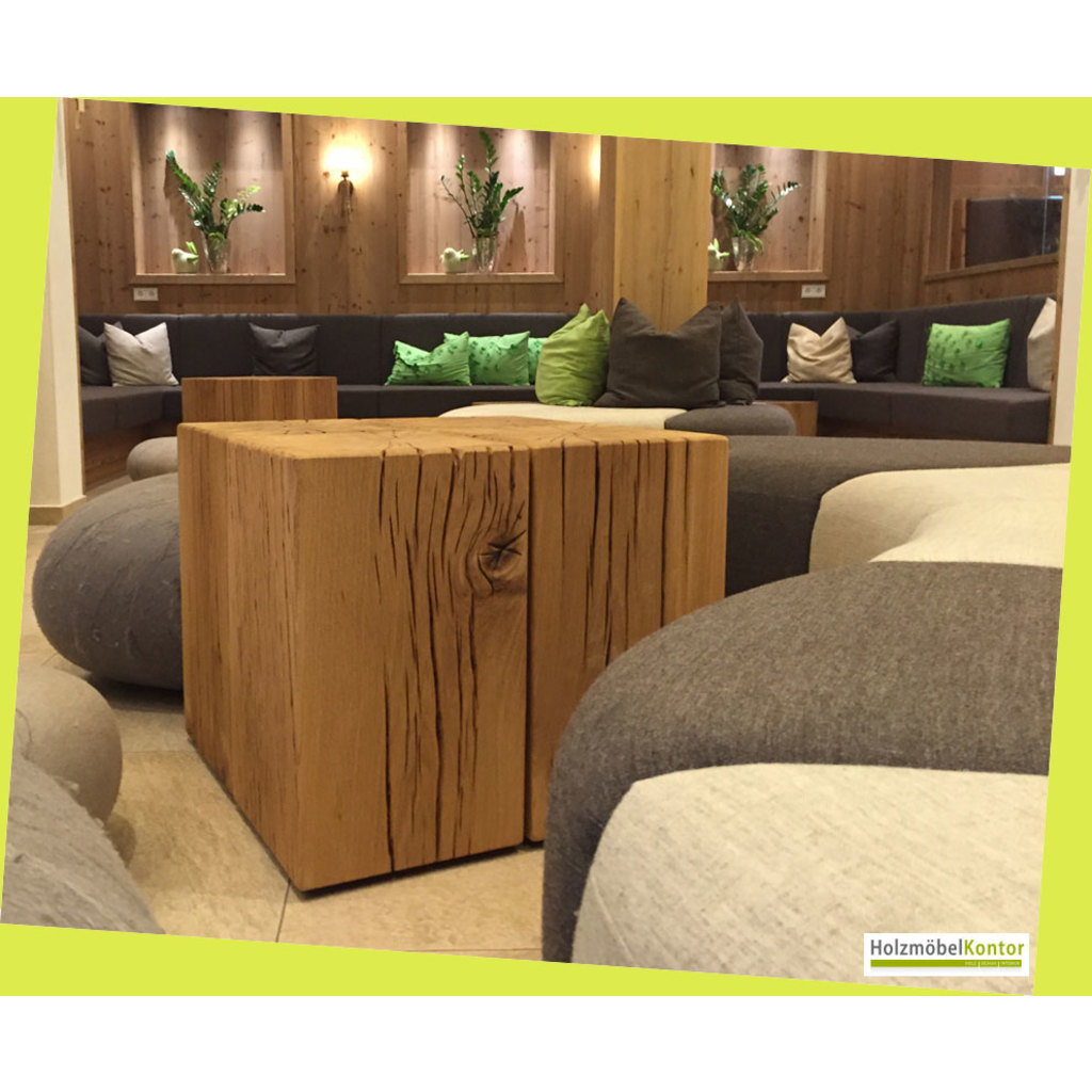 couchtisch aus holzbl cken eiche massiv. Black Bedroom Furniture Sets. Home Design Ideas