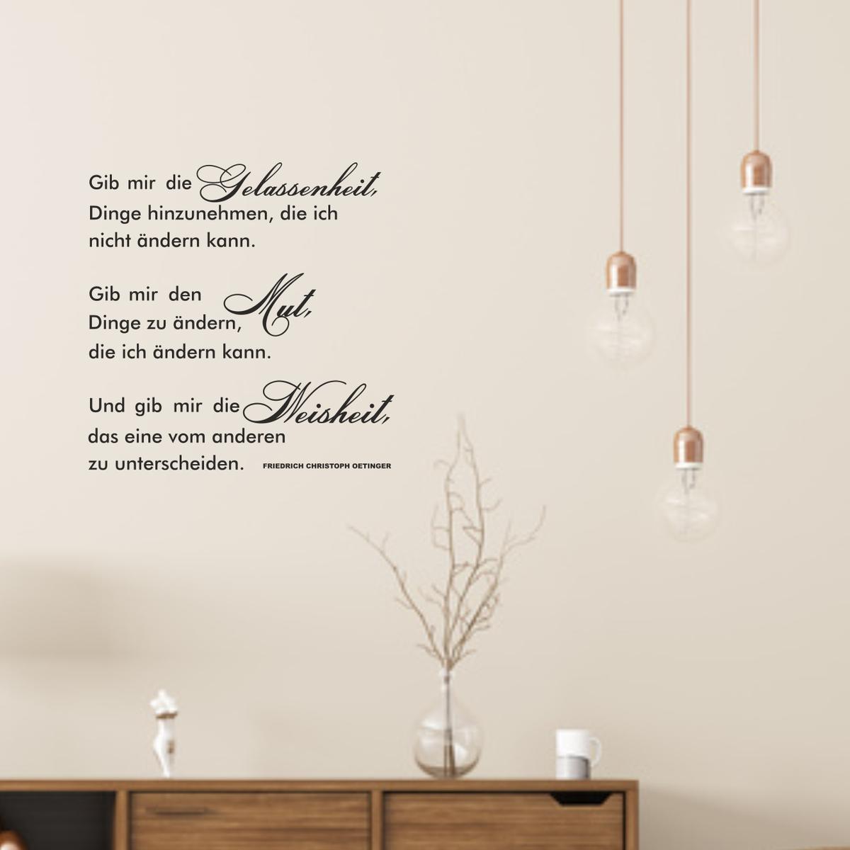 Sympathisch Wandtattoo Zitate Galerie Von Spruch Zitat Gelassenheit