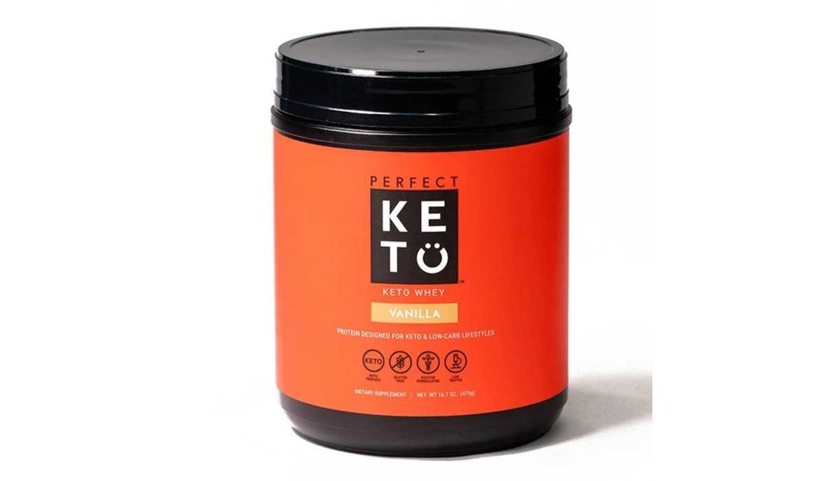 Keto Whey Protein Vanilla - Perfect Keto | Low-carb Weideprotein mit MCTs