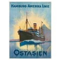 Hamburg-Amerika Linie: Ostasien Advertising Poster 1900