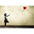 XL Banksy Balloon Girl Wall Art