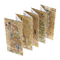 Klimt leporello folded postcards