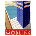 Stadtbad Mödling Advertising Poster 1929