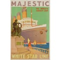 Advertising poster 1932 Majestic - White Star Line