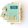 Travel Notes Notizbuch aus Landkarten / Notebook with vintage Map Cover