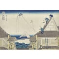 Thirty-six Views of Mount Fuji View of street Suruga in Edo with Mitsui-shop