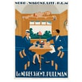 Londres-Vichy-Pullman. Nord Wagons Lits Werbeplakat 1927