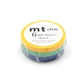 mt Masking Tape Slim - Gelb, Türkis, Blau / Yellow, Turquoise, Blue,