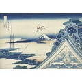 Hongan-Temple in Asakusa, Edo 36 views of Mount Fuji (Series)