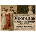 Advertising poster 1892 Internationale Ausstellung für Musik und Theaterwesen