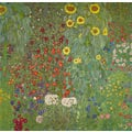 GUSTAV KLIMT: Farm Garden with Sunflowers