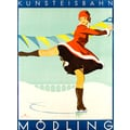 Advertising poster 1929 Kunsteisbahn Mödling