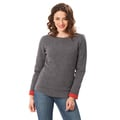Pullover 'Outdoor' grau/orange