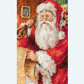 Santa with List Stocking - borduurpakket met telpatroon Luca-S