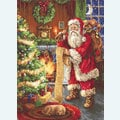 Santa Clause with List - borduurpakket met telpatroon Luca-S