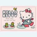 Hello Kitty - Rainy Days Can Be Fun Too - Vervaco kruissteekpakket met telpatroon
