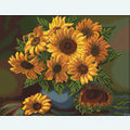 Vase with Sun Flowers - kruissteekpakket met telpatroon Luca-S