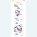 Growing Chart: Hello Kitty and Rainbow - borduurpakket met telpatroon Vervaco Groeimeter met Hello Kitty