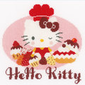 Hello Kitty - Pie Baking 2 - kruissteekpakket met telpatroon Vervaco