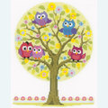 Little Owls Tree - borduurpakket met telpatroon Vervaco