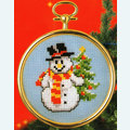 Snowman and Christmas Tree - borduurpakket met telpatroon Vervaco