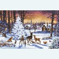 Christmas Wood - borduurpakket met telpatroon Letistitch