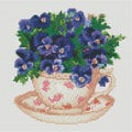 Flowers in the Cup  - Diamond Painting pakket - Diamond Art