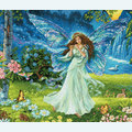 Spring Fairy - borduurpakket met telpatroon Dimensions