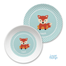 Kindergeschirr Set Dots Tiger mint