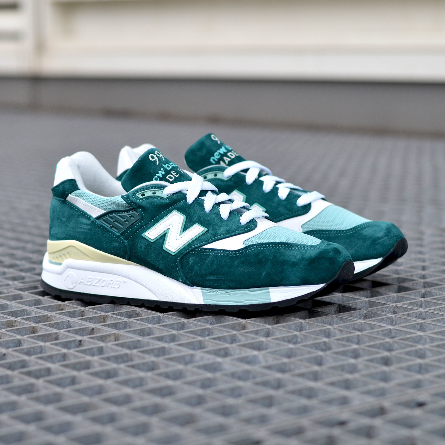 New Balance M998 Made in USA Sea Green / White M998CSAM-43