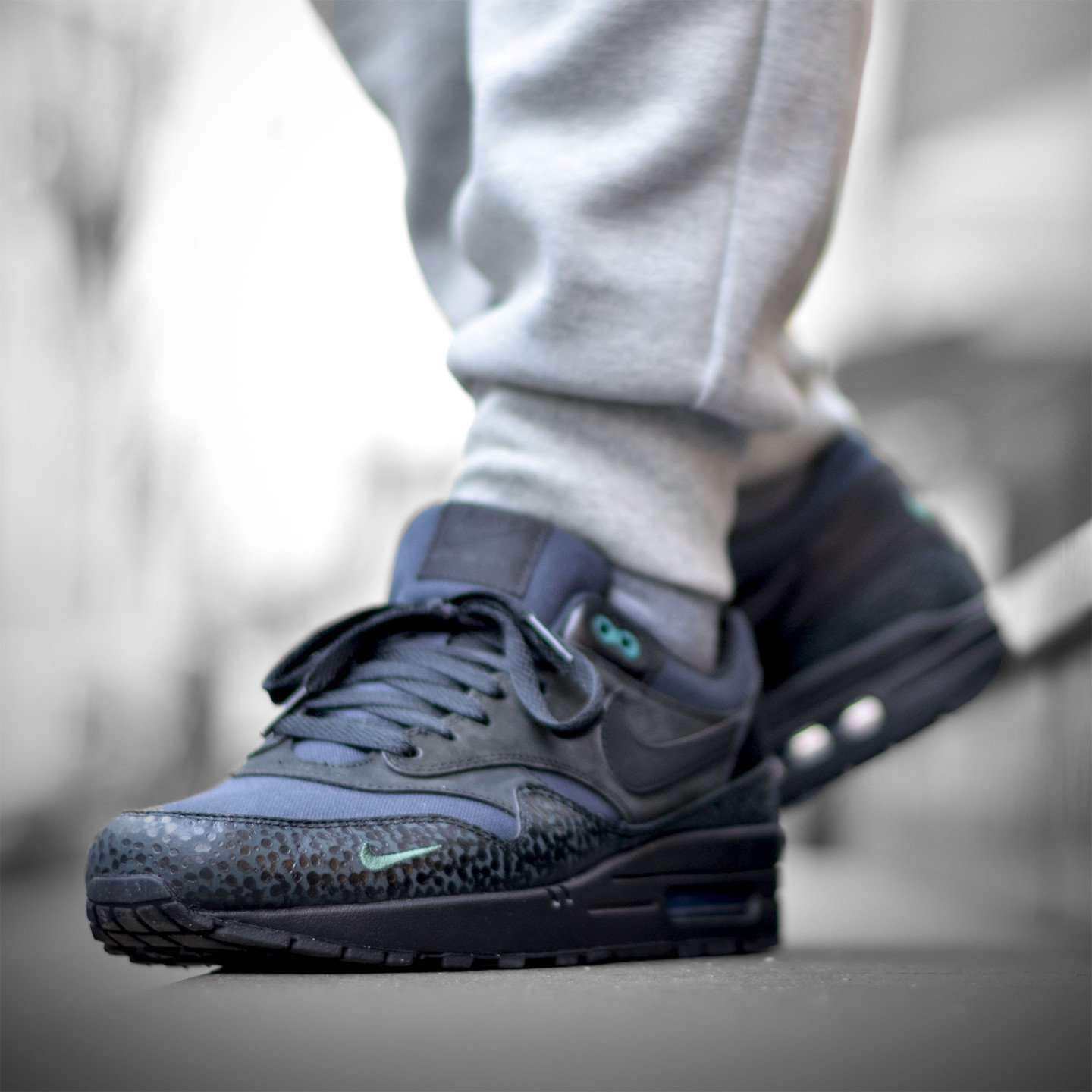 Nike Air Max 1 Premium 'Bonsai Safari' Black / Black / Bonsai 512033-030-43