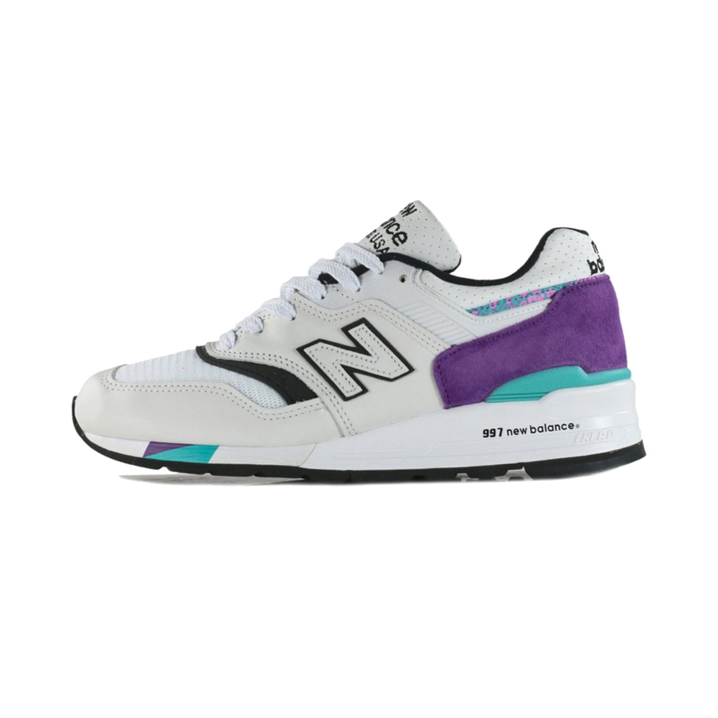 New Balance M997 - Made in USA White / Purple / Aqua M997WEA