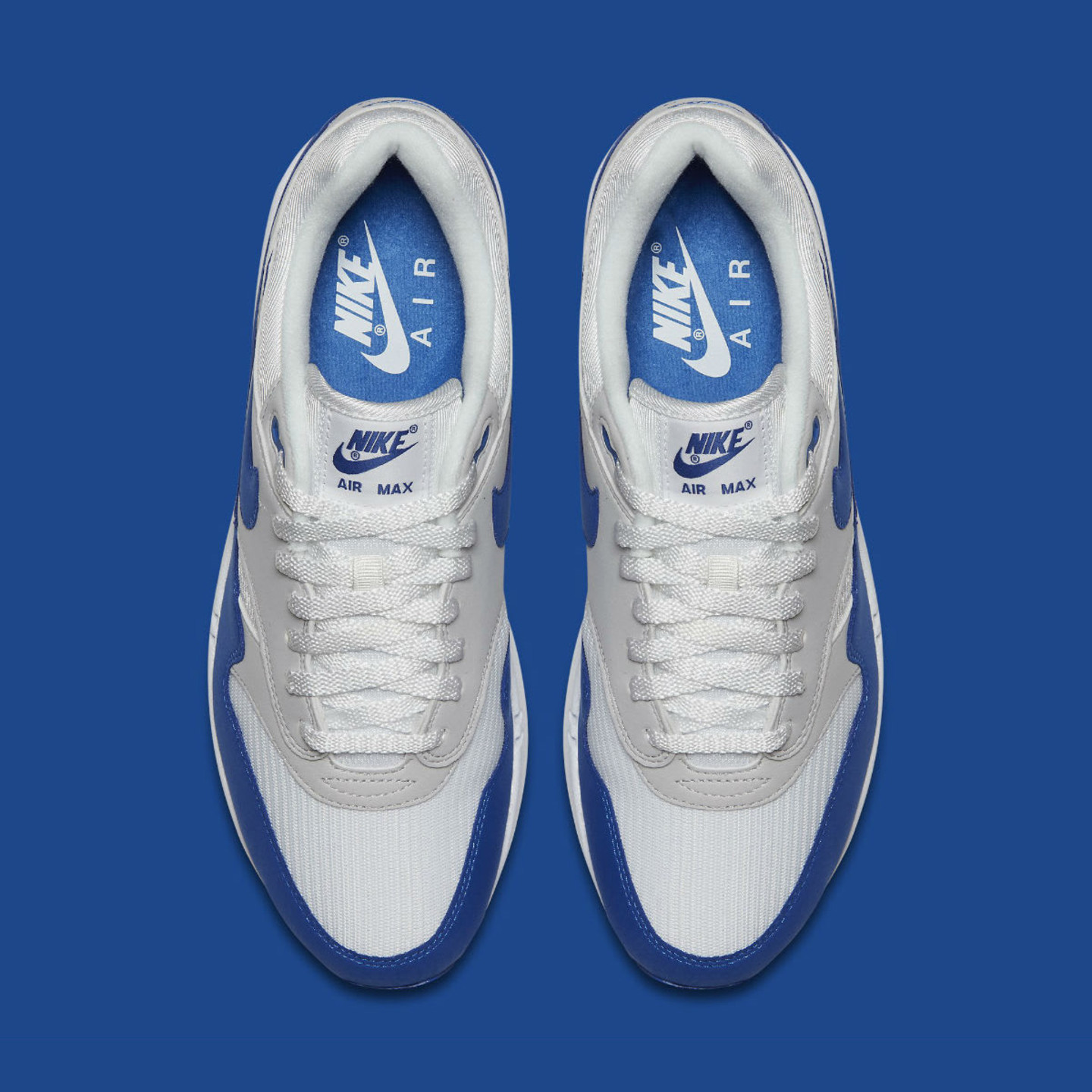 Nike Air Max 1 OG Anniversary White / Game Royal / Neutral Grey 908375-102
